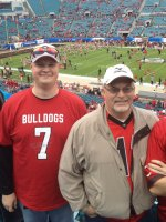 chad attended 2014 Gator Bowl - Nebraska Cornhuskers vs #22 Georgia Bulldogs on Jan 1st 2014 via VetTix