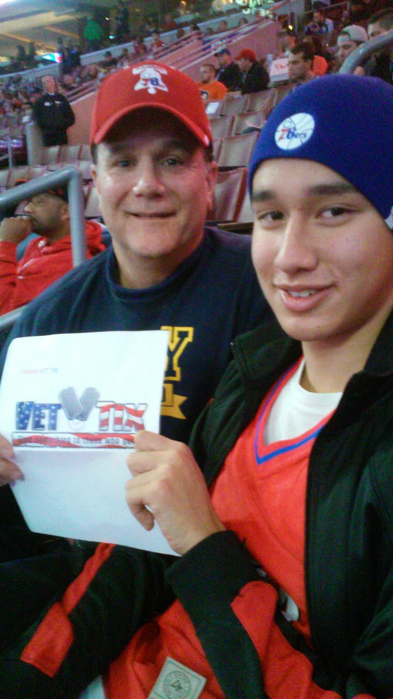 70ca18d2b15fa1 Gary attended Philadelphia 76ers vs. Toronto Raptors - NBA - Hoops for  Troops on Nov. Had a great ...