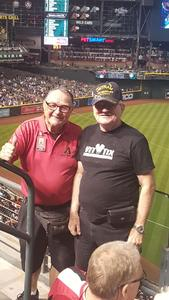 LaVern attended Arizona Diamondbacks vs. San Francisco Giants on Apr 17th 2018 via VetTix