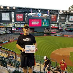Steve attended Arizona Diamondbacks vs. San Francisco Giants on Apr 17th 2018 via VetTix