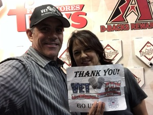 Stephen C attended Arizona Diamondbacks vs. San Francisco Giants on Apr 17th 2018 via VetTix