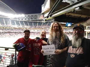 Charles attended Arizona Diamondbacks vs. San Francisco Giants on Apr 17th 2018 via VetTix