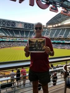 ANTHONY attended Arizona Diamondbacks vs. San Francisco Giants on Apr 18th 2018 via VetTix