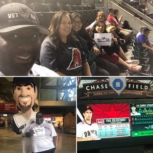 John Graves attended Arizona Diamondbacks vs. San Francisco Giants on Apr 18th 2018 via VetTix