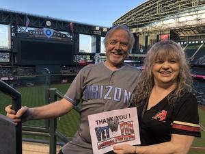 Deborah attended Arizona Diamondbacks vs. San Francisco Giants on Apr 18th 2018 via VetTix