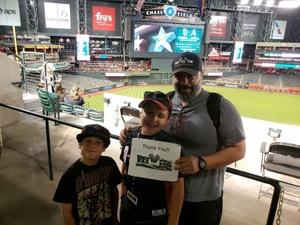 Sergio attended Arizona Diamondbacks vs. San Diego Padres - MLB on Apr 20th 2018 via VetTix