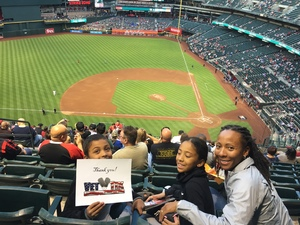 Alexia attended Arizona Diamondbacks vs. San Diego Padres - MLB on Apr 20th 2018 via VetTix