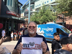 Robert attended Arizona Diamondbacks vs. San Diego Padres - MLB on Apr 21st 2018 via VetTix