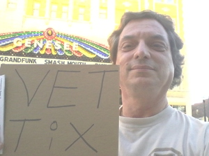 Roger attended Femmes of Rock on May 4th 2018 via VetTix
