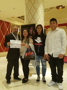 Sgt.Lykins attended Le Reve the Dream at the Wynn Theatre on Apr 15th 2018 via VetTix