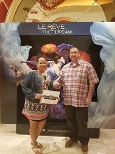 David attended Le Reve the Dream at the Wynn Theatre on Apr 15th 2018 via VetTix