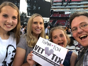 Erick attended Taylor Swift Reputation Stadium Tour on May 11th 2018 via VetTix