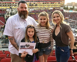 Allen attended Taylor Swift Reputation Stadium Tour on May 11th 2018 via VetTix