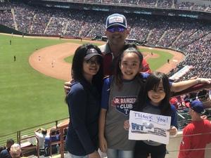 Jose attended Texas Rangers vs. Seattle Mariners - MLB on Apr 22nd 2018 via VetTix