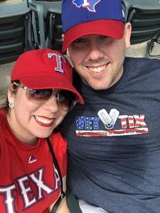 Brice attended Texas Rangers vs. Seattle Mariners - MLB on Apr 22nd 2018 via VetTix