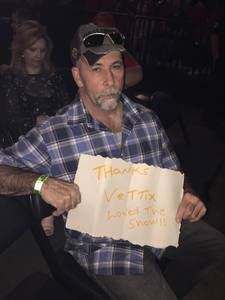 Timothy attended Brad Paisley - Weekend Warrior World Tour With Dustin Lynch, Chase Bryant and Lindsay Ell on Apr 26th 2018 via VetTix