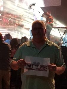 Ron Roen attended Brad Paisley - Weekend Warrior World Tour With Dustin Lynch, Chase Bryant and Lindsay Ell on Apr 26th 2018 via VetTix