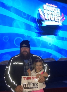 Jeremy attended Bubble Guppies Live - Evening Show on Apr 28th 2018 via VetTix