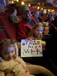 Corey attended Bubble Guppies Live - Evening Show on Apr 28th 2018 via VetTix