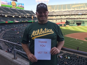 STEVE attended Oakland Athletics vs. Baltimore Orioles - MLB on May 4th 2018 via VetTix