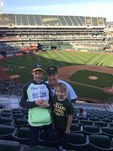 Phillip attended Oakland Athletics vs. Baltimore Orioles - MLB on May 4th 2018 via VetTix