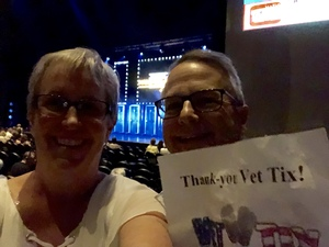 Shelley attended Maks, Val and Peta Live on Tour: Confidential on May 4th 2018 via VetTix