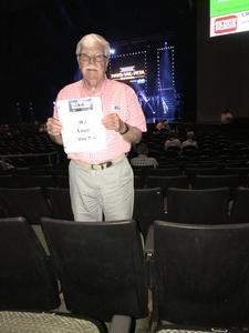 Larry attended Maks, Val and Peta Live on Tour: Confidential on May 4th 2018 via VetTix