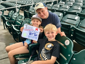Thomas attended Charlotte Knights vs. Indianapolis Indians - MiLB on May 28th 2018 via VetTix
