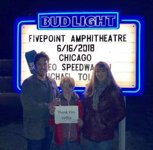 David attended Chicago and Reo Speedwagon Live on Jun 16th 2018 via VetTix