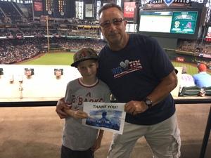 Louis attended Arizona Diamondbacks vs. San Francisco Giants - MLB on Aug 4th 2018 via VetTix