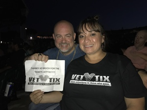 Leticia attended Chicago / Reo Speedwagon on Jun 29th 2018 via VetTix