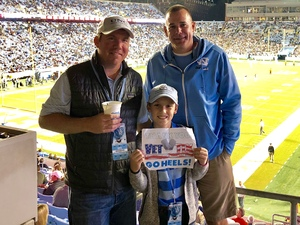 Brian attended North Carolina Tar Heels vs. Virginia Tech Hokies - NCAA Football on Oct 13th 2018 via VetTix