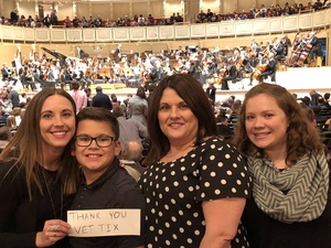 Elizabeth attended Trifonov Plays Prokofiev - Presented by the Chicago Symphony Orchestra on Oct 20th 2018 via VetTix