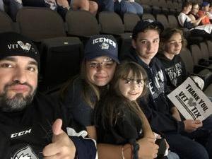 James attended Jacksonville Icemen vs. South Carolina Stingrays - ECHL on Oct 13th 2018 via VetTix
