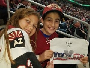Gary attended Arizona Coyotes vs. Vancouver Canucks - NHL on Oct 25th 2018 via VetTix