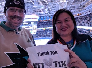 Michael attended San Jose Sharks vs. Minnesota Wild - NHL on Nov 6th 2018 via VetTix