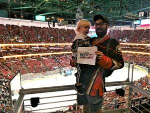 John attended Anaheim Ducks vs. Columbus Blue Jackets - NHL - Antis Roofing Community Corner on Nov 4th 2018 via VetTix