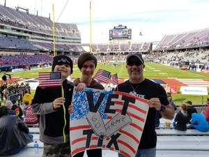Soon-to-be-retired M.C. attended Lockhead Martin Armed Forces Bowl - NCAA Football on Dec 22nd 2018 via VetTix