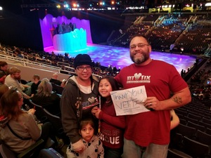 Ramon attended Disney on Ice Presents Dare to Dream on Jan 17th 2019 via VetTix