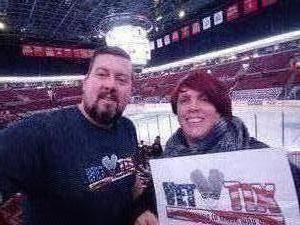 Stacey attended Ohio State Buckeyes vs. University of Michigan Yellow Jackets - NCAA Hockey on Jan 11th 2019 via VetTix