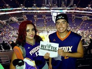 Najee attended Phoenix Suns vs. Dallas Mavericks - NBA on Dec 13th 2018 via VetTix
