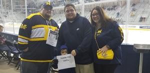 Jose attended University of Michigan Wolverines vs. Merrimack Warriors - NCAA Men's Hockey on Jan 8th 2019 via VetTix
