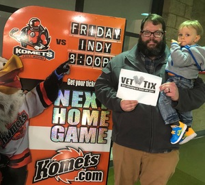 Ryan attended Ft Wayne Komets vs Kalamzoo Wings - ECHL on Jan 16th 2019 via VetTix