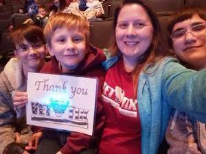 Allison attended Disney's D'cappella on Jan 30th 2019 via VetTix