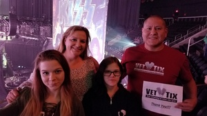 Jose attended Kiss - End of the Road Tour on Feb 15th 2019 via VetTix