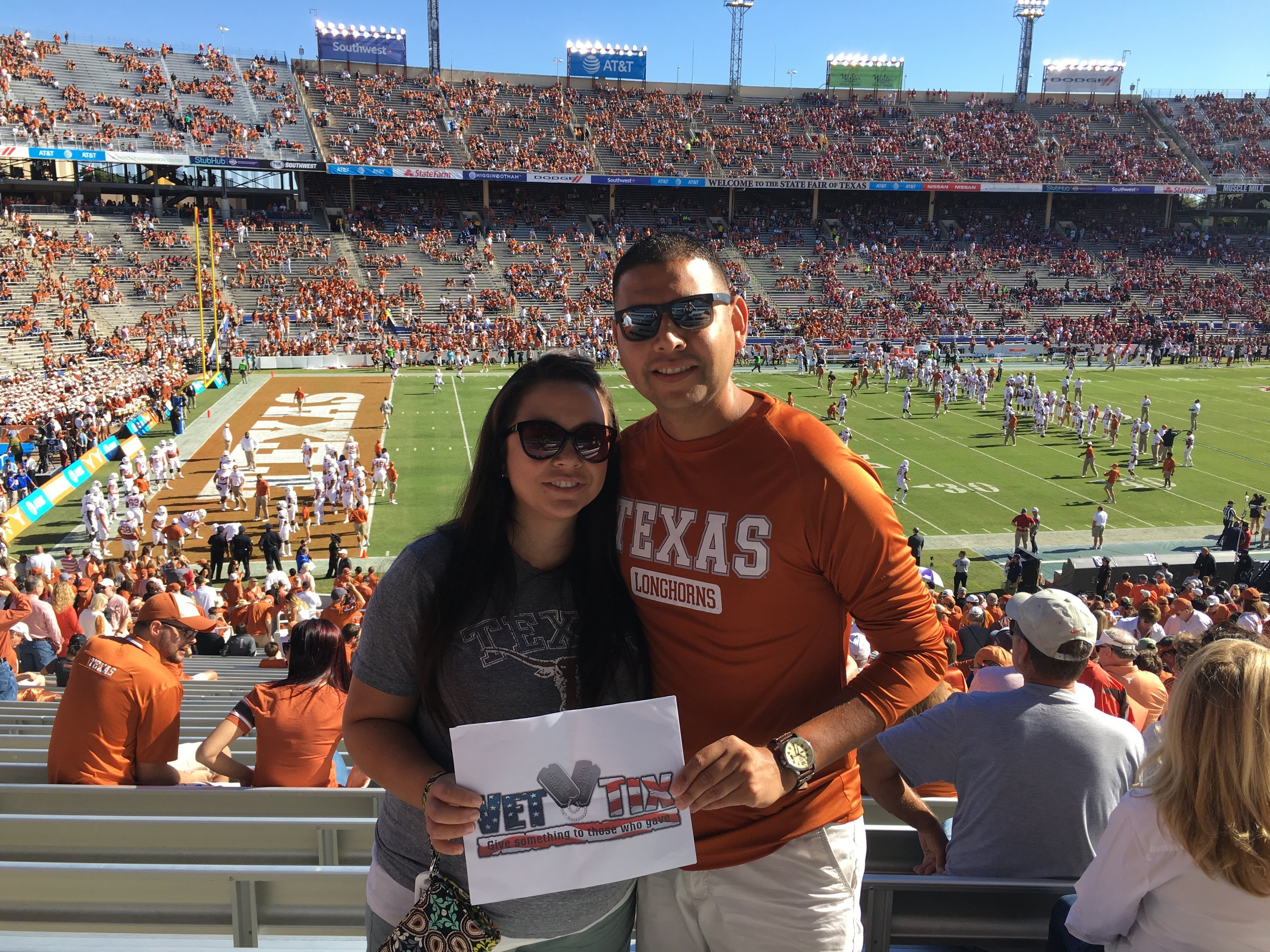 895eec441 Rudy attended Texas Longhorns vs. Oklahoma Sooners - Red River Showdown -  NCAA Football on