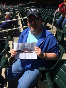 Jeffrey attended Minnesota Twins vs. Detroit Tigers - MLB on Apr 22nd 2017 via VetTix