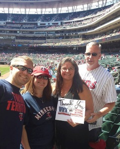 Chris attended Minnesota Twins vs. Detroit Tigers - MLB on Apr 22nd 2017 via VetTix