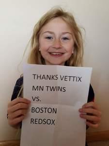 Kevin attended Minnesota Twins vs. Boston Red Sox - MLB on May 6th 2017 via VetTix