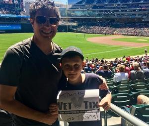 Nathan attended Minnesota Twins vs. Boston Red Sox - MLB on May 6th 2017 via VetTix
